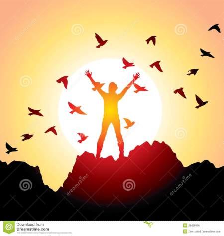 girl-raised-hands-flying-birds-21429566